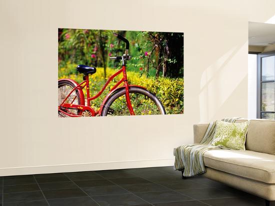 Red Bicycle, Half Moon Resort-Greg Johnston-Wall Mural