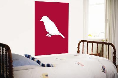 Red Bird Silhouette-Avalisa-Wall Mural