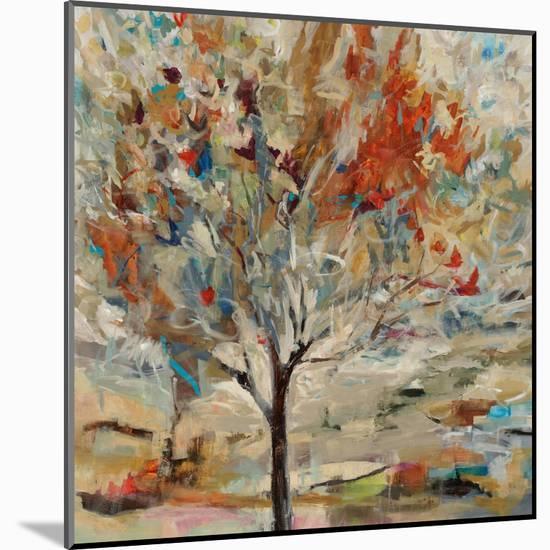 Red Bird Tree-Jodi Maas-Mounted Giclee Print