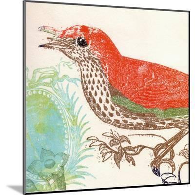Red Bird-Swan Papel-Mounted Print