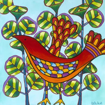Red Bird-Carla Bank-Giclee Print