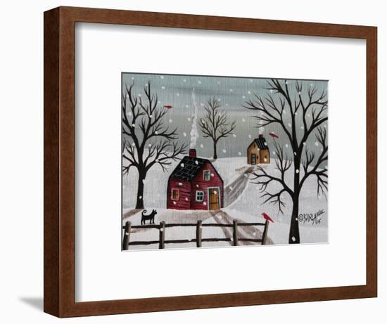 Red Birds 1-Karla Gerard-Framed Giclee Print