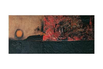 Red Black and Burning-Alberto Burri-Giclee Print