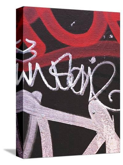 Red Black Tag I-Jenny Kraft-Stretched Canvas Print