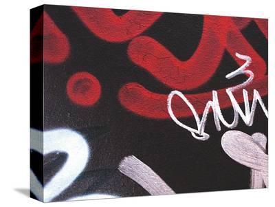 Red Black Tag II-Jenny Kraft-Stretched Canvas Print