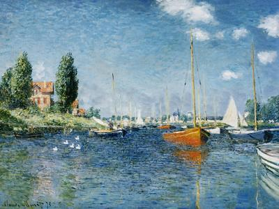 Red Boats, Argenteuil-Claude Monet-Stretched Canvas Print
