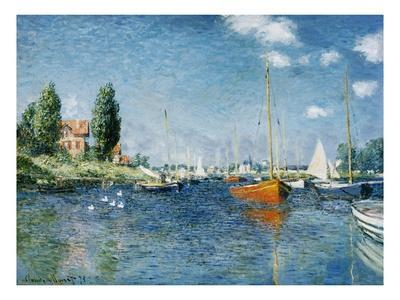 Red Boats, Argenteuil-Claude Monet-Premium Giclee Print