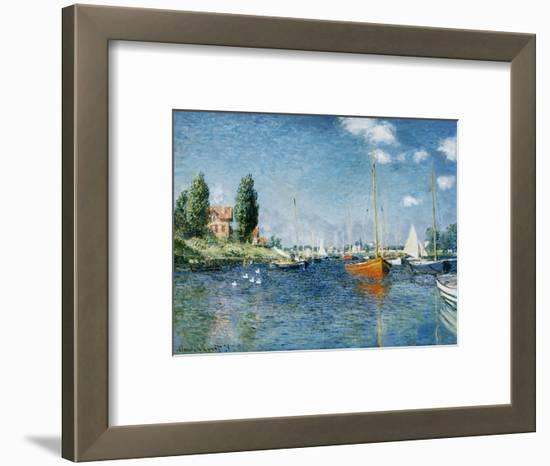 Red Boats, Argenteuil-Claude Monet-Framed Premium Giclee Print