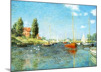 Red Boats at Argenteuil, c.1875-Claude Monet-Mounted Print