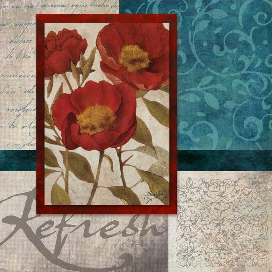 Red Botanicals I-Elizabeth Medley-Art Print