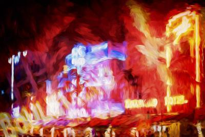 Red Boulevard - In the Style of Oil Painting-Philippe Hugonnard-Giclee Print