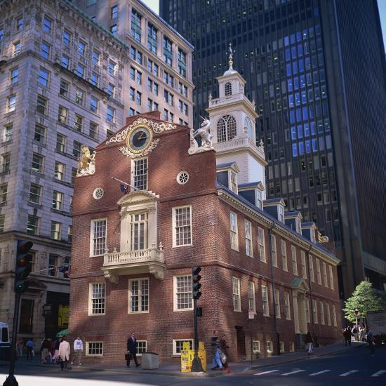 Red Brick Old State House Boston Machusetts New England Usa Photographic Print By Roy Rainford Art