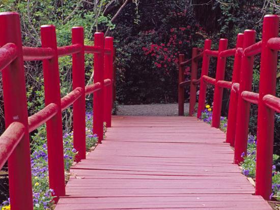 Red Bridge, Magnolia Plantation and Gardens, Charleston, South Carolina, USA-Julie Eggers-Photographic Print