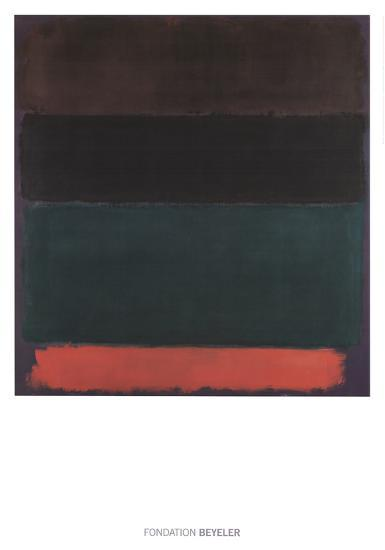 Red-Brown, Black, Green, Red-Mark Rothko-Art Print
