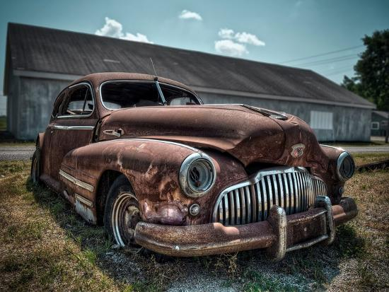 Red Buick-Stephen Arens-Photographic Print