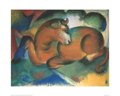 Red bull-Franz Marc-Giclee Print