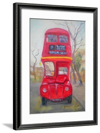 Red Bus-Antonia Myatt-Framed Giclee Print