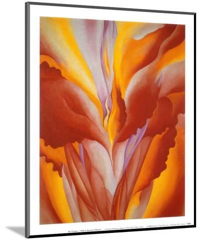 Red Canna-Georgia O'Keeffe-Mounted Print