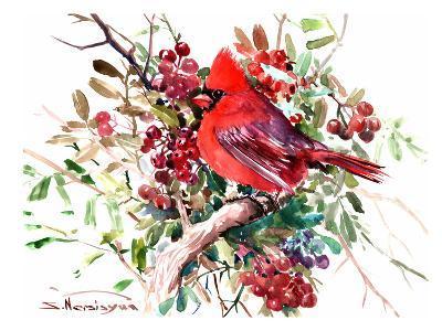 Red Cardinal 6-Suren Nersisyan-Art Print