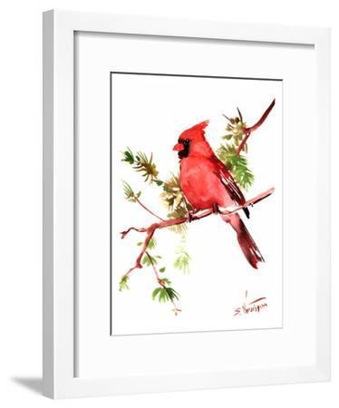 Red Cardinal-Suren Nersisyan-Framed Art Print