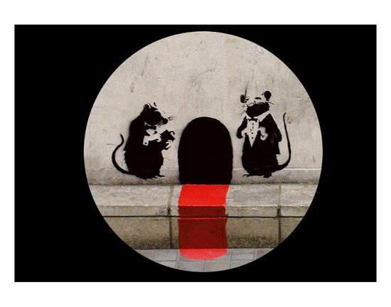 Red Carpet Rats-Banksy-Art Print