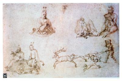 Red Chalk Study, C1500-Albrecht Durer-Giclee Print
