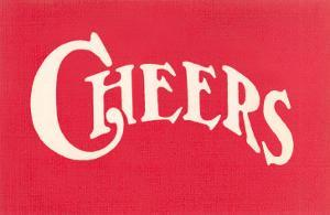 Red Cheers Sign