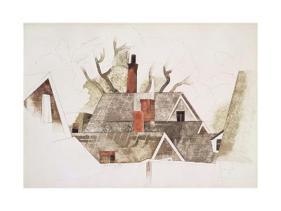 Red Chimneys-Charles Demuth-Giclee Print
