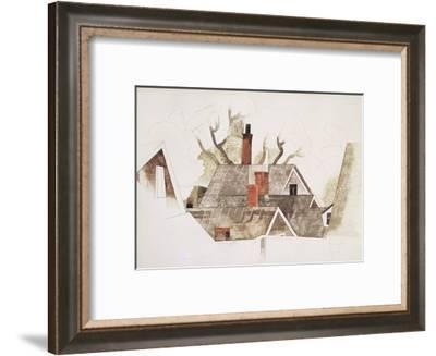 Red Chimneys-Charles Demuth-Framed Giclee Print