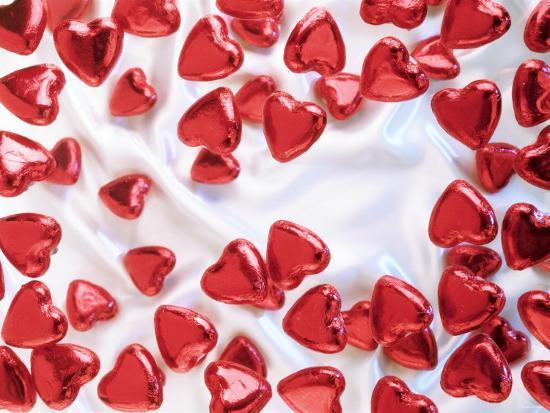 Red Chocolate Hearts For Valentine S Day Photographic Print By