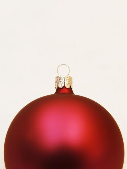 Red Christmas tree decorations--Photographic Print