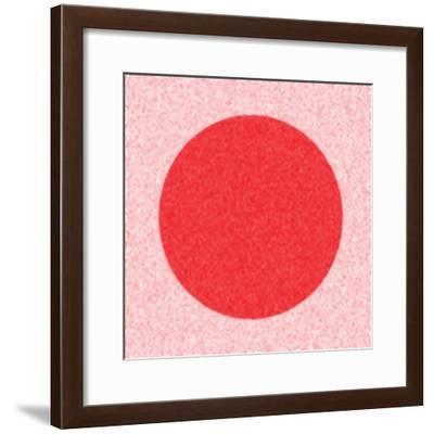 Red Circle,2017-Alex Caminker-Framed Giclee Print