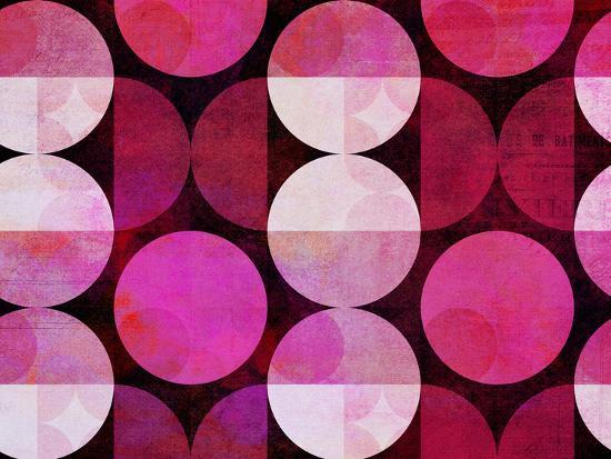 Red Circle Pattern-Lebens Art-Art Print
