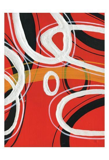Red Circles 1-Lucas Hunter-Art Print