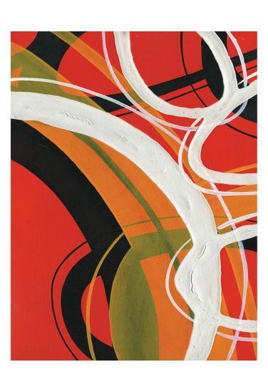 Red Circles 2-Lucas Hunter-Art Print
