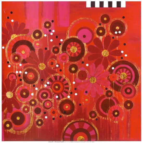 Red Circles II--Art Print