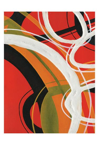 Red Circles II-A Ruiz-Art Print