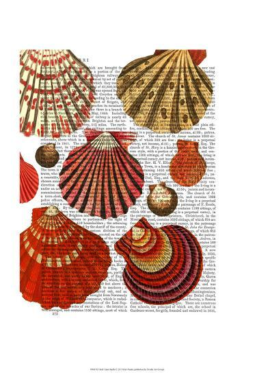 Red Clam Shells-Fab Funky-Art Print