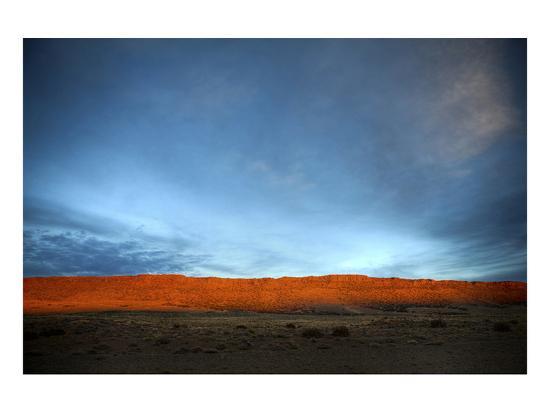 Red Cliff Blue Sky-Nish Nalbandian-Art Print