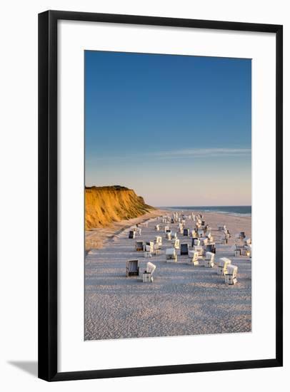 Red Cliff, Kampen, Sylt Island, Northern Frisia, Schleswig-Holstein, Germany-Sabine Lubenow-Framed Photographic Print