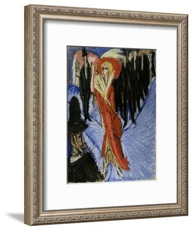 Red Cocotte-Ernst Ludwig Kirchner-Framed Art Print
