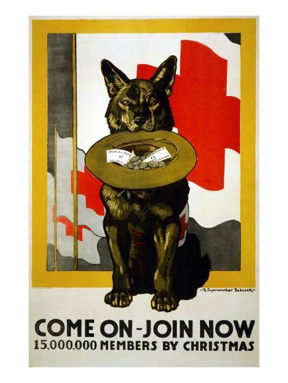 Red Cross Poster, 1917-Richard Fayerweather Babcock-Giclee Print
