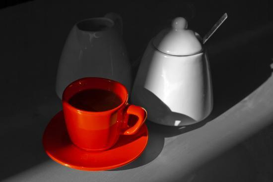 Red Cup of Coffee-jam-design.cz-Photographic Print