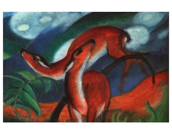 Red Deer Ii Art Print Franz Marc Art Com