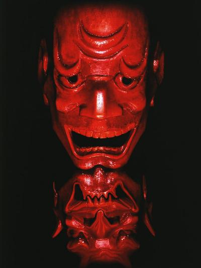 Red Devil Mask, Reflected-Abdul Kadir Audah-Photographic Print