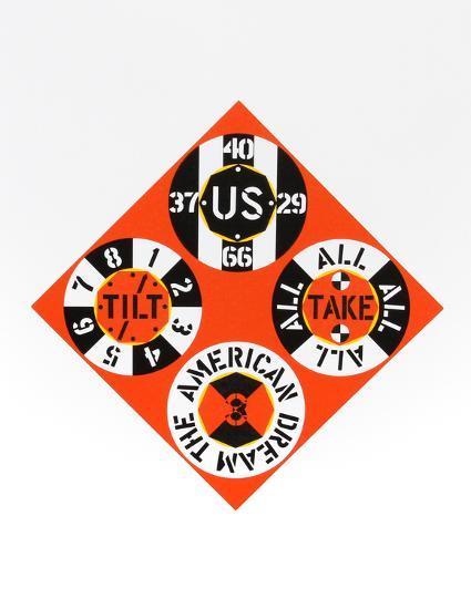 Red Diamond (from the American Dream Portfolio)-Robert Indiana-Serigraph