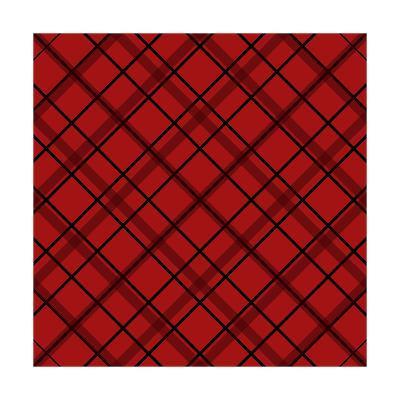 Red Diamond Plaid 2-Jennifer Nilsson-Giclee Print