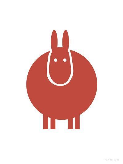 Red Donkey-Avalisa-Art Print