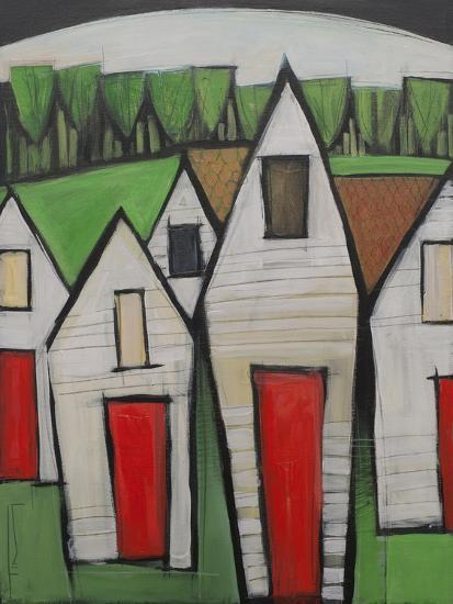 Red Doors-Tim Nyberg-Premium Giclee Print