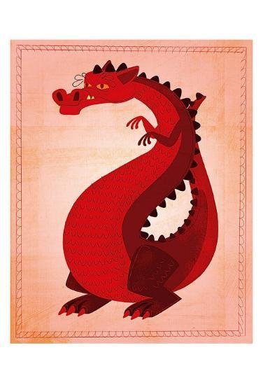 Red Dragon-John Golden-Art Print